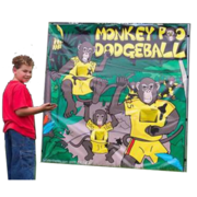 Monkey Poo Dodgeball Carnival Game